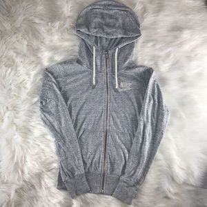 Nike Zip Up Hoodie Gray Sz XS